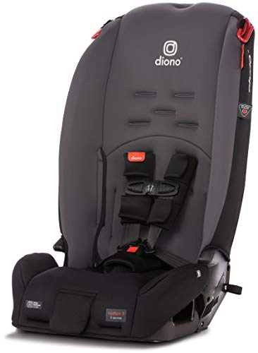 Diono Radian 3R, 3-in-1 Convertible Rear & Forward Facing Convertible Car Seat, High-Back Booster, 10 Years 1 Car Seat, Slim Design - Fits 3 Across, Gray Slate