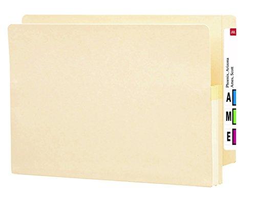 "Smead End Tab File Pocket, Reinforced Straight-Cut Tab, 1-3/4"" Expansion, Legal Size, Manila, 25 per Box (76114)"