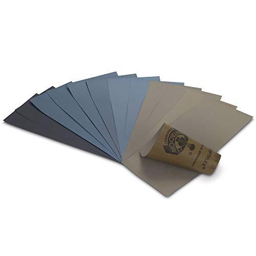 Starcke Matador Premium Schleifpapier | Made in Germany | Körnung 60 bis P7000 wählbar | Wasserschleifpapier Nassschleifpapier (10, P800)