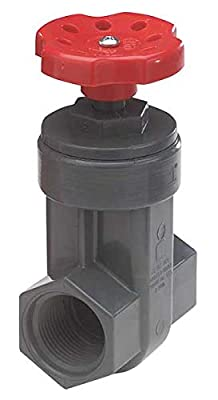 Gate Valve, 1-1/2 In., FNPT, PVC by NDS