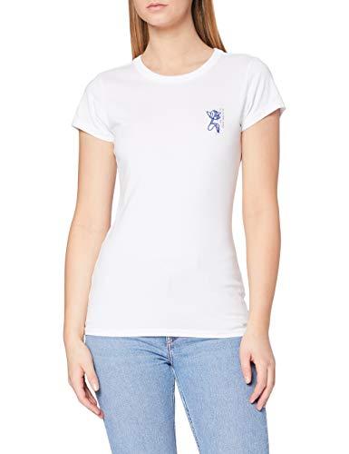 G-STAR RAW Tulip Print Slim Camiseta, Blanco 336-110, M para Mujer
