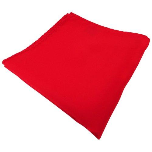 TigerTie Einstecktuch in rot verkehrsrot knallrot einfarbig - Tuch Kavalierstuch Pochette Stecktuch