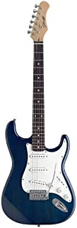 Stagg S300-TB Standard 6-String Electric Guitar with Classic S Style Bridge - Blue
