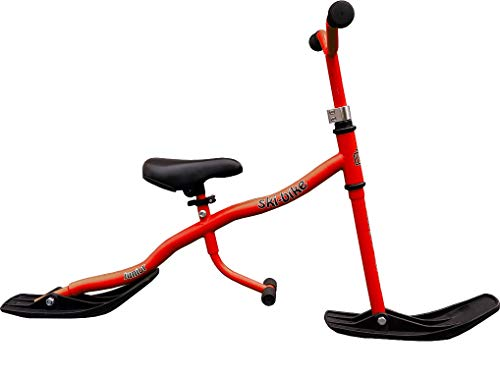 TE-Sports Kinder Roller Ski Snow Scooter Kick Board Bike Sattel Fußrasten Stahl Rot bis 40kg belastbar SGS geprüft