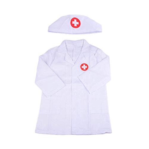 Egosy - Bata de médico para niños, bata de laboratorio, juego de accesorios para niñas, juego de rol, disfraz de Halloween