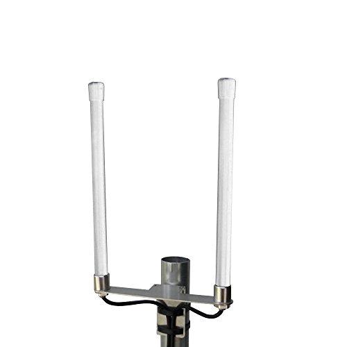 PROSCAN 800/1800/2600 MHz Multiband LTE Antenne – 4G Rundstrahlantenne mit bis zu 6.5dBi Leistungsgewinn, Weiß, Wetterfest, 5m Kabel mit SMA Stecker - passend für LTE Router
