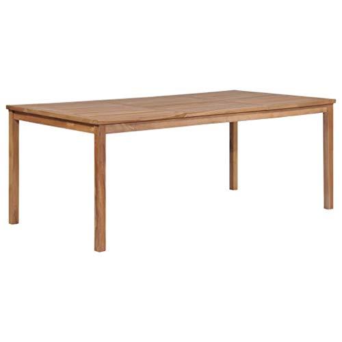 vidaXL Teak Gartentisch 200x100x77cm Esstisch Holztisch Terassentisch Tisch