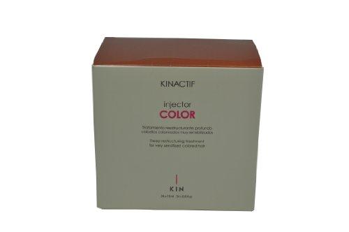Kin Lot de 24 tubes de traitement restructurant en profondeur pour cheveux colorés très sensibilisés Kinactif Injector Colour 24 x 18 ml