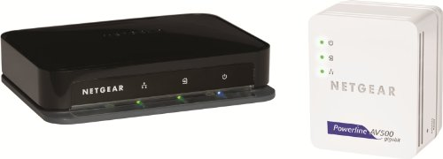 NETGEAR XAVB5004-100GRS Powerline AV 500 Mbit/s AdapterSet mit 4 Ports