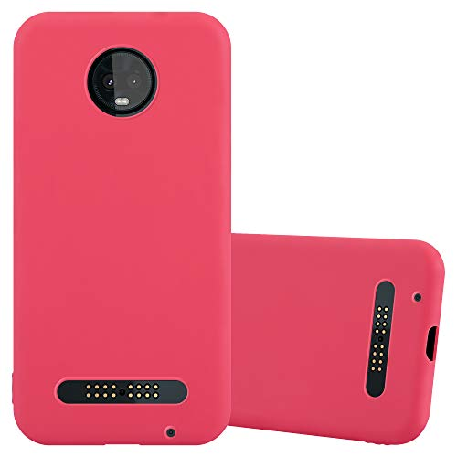 Cadorabo Hülle für Motorola Moto Z3 Play in Candy ROT - Handyhülle aus flexiblem TPU Silikon - Silikonhülle Schutzhülle Ultra Slim Soft Back Cover Hülle Bumper