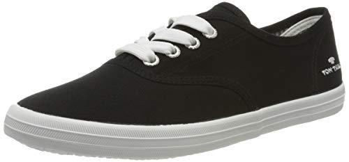 TOM TAILOR Damen 8092401 Sneaker, Schwarz (Black 00001), 39 EU