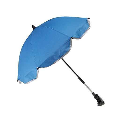 dailymall Kinderwagen Sonnenschirm Universal Regenschirm UV-Schutz Babywagen Schirm mit Halterung - Blau, 65 cm