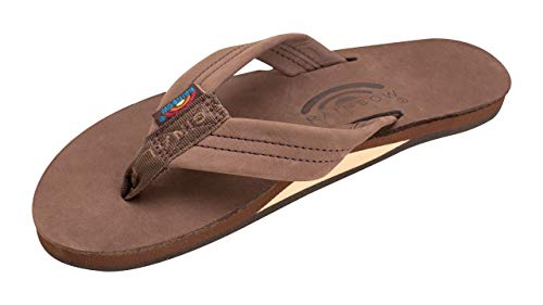 Rainbow Sandals Women's Single Layer Premier Leather w/Arch Support Expresso, Ladies Medium / 6.5-7.5 B(M) US