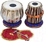 Baba Surjan Singh & Sons - BSSS® Professional Wooden Indian Musical Instrument Bayan Tabla, Dayan Tabla For Beginners & Students/Boys/Girls