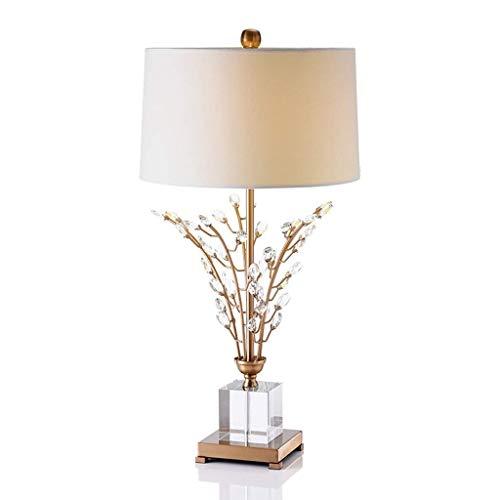 XYZMDJ Arte lámpara de Escritorio, Estudio Sala de Estar Decoración de atenuación de Faros, Crystal Dormitorio lámpara de cabecera de Gama Alta del Hotel Sala Modelo de Habitaciones