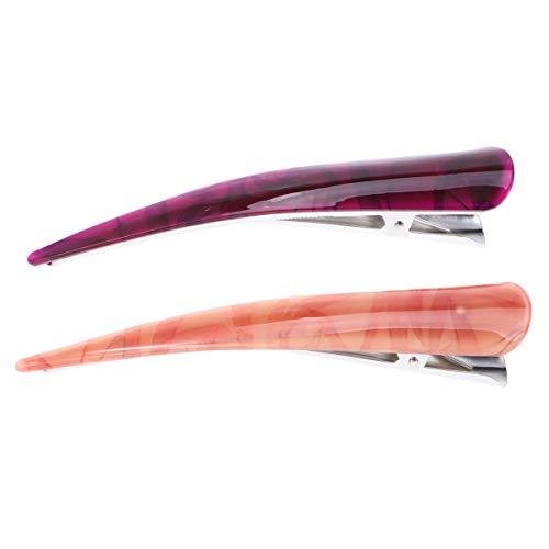 Lurrose 2 piezas de pinzas de pelo de pico de pato de acrílico pinzas de cocodrilo para niñas accesorios de estilo elegante para el cabello