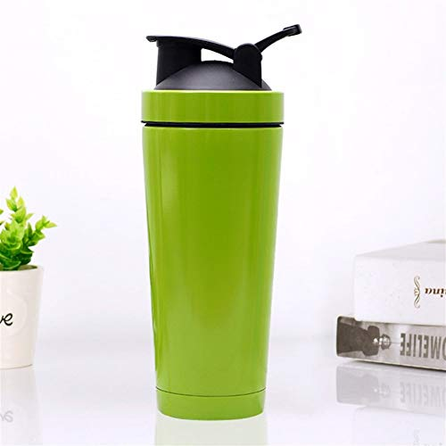 Loop Top Shaker Bottle Stainless Steel Shaker Ball Grip-Leak Proof Flip Cap Sports Drink Shaker Cup (Color : C4, Size : 750ml)