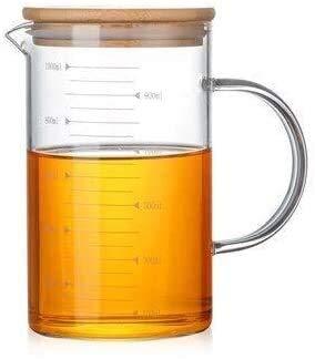 Bouilloire induction Théière de la bouilloire résistante à la chaleur 350/500 / 1000ml verre de borosilicate Mesure de tasses de tasses d'eau bouteille d'eau pour le bureau de la maison en plein air W