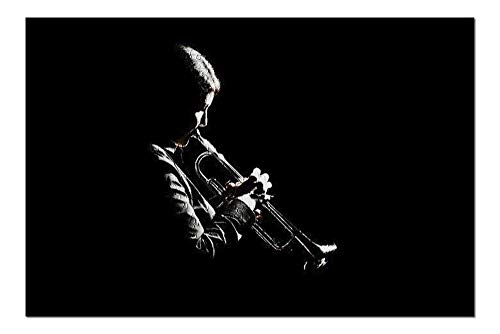 Silhouette Dramatic Jazz Trumpet Player Musician 9016095 (Premium 500 Piece Jigsaw Puzzle for Adults, 13x19, Made in USA!)