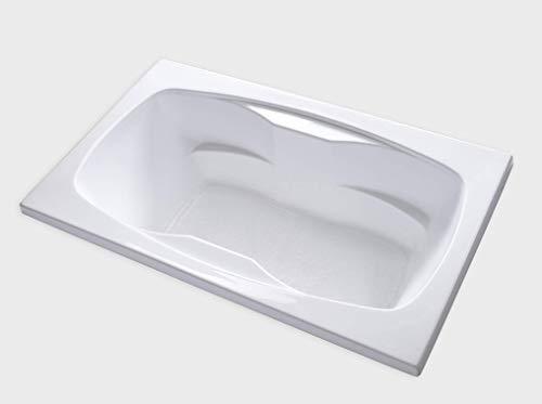 Carver Tubs - AR7242-72'L x 42'W x 20.5'H White Acrylic Soaking Drop In Bathtub
