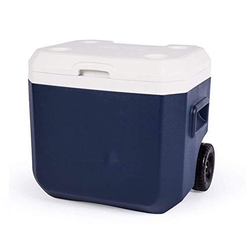 DFJU Trolley Incubator Com Polia 52 litros Grande Capacidade Alimentício Liner Profissional Não Necessita Usar Eletricidade Car Geladeira - Azul