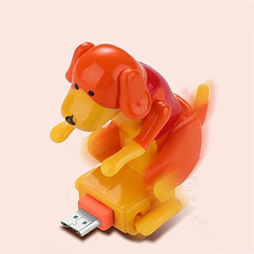 lefeindgdi Cable de cargador Cable de carga para perros Cable de perro Juguete para smartphone Cargador de cable USB Mini Humping Spot Juguete para teléfono móvil Tipo-C portátil