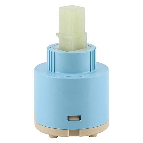 Haofy Cartucho de válvula de una manija, subconjunto de Cartucho, Cartucho de cerámica Válvula de Grifo Cartucho de Grifo Mezclador de Agua del Grifo(40mm)
