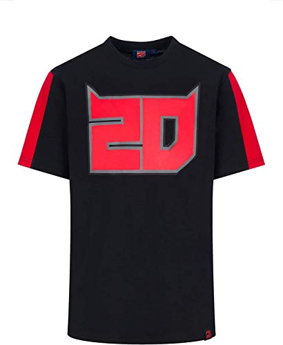 FABIO QUARTARARO Offizielles MotoGP 20 EL Diablo T-Shirt (Schwarz, 3XL)