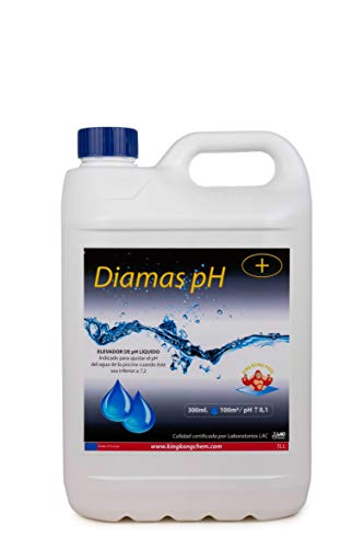 DIASA INDUSTRIAL Elevador del pH para Piscinas DIAMAS PH 5 L – Tratamiento de Mejora de la Calidad del Agua – Formato Líquido