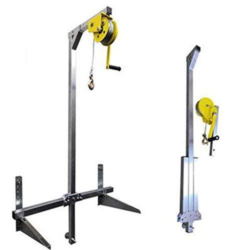 Wenhu Manueller Edelstahl, Außenmontage Hebewerkzeug, Kran, zusammenklappbar, selbstsichernde manuelle Windenmontage Klimaanlage,Rope20Meter