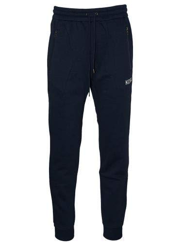 Michael Kors Terry - Pantalón de chándal Ajustado, Color Azul Azul Azul XL