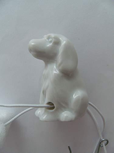 Lindner Porzellan Tropfenfänger Hund, Cocker Spaniel, weiß, für Kaffee- oder Teekannen, Tier Hunde