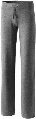 Erima Basic joggingbroek voor dames, lange maat met brede tailleband met trekkoord, gemaakt van zacht katoen