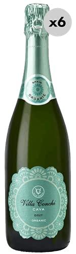 Villa Conchi Brut Organic, Vino Espumoso, 6 Botellas, 75 cl