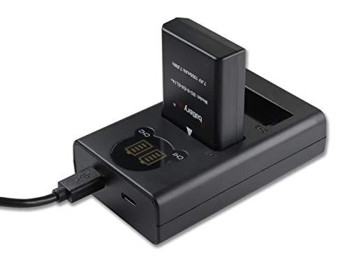 Batterytec Batería para Nikon EN-EL14 y LED Dual Cargador Kit, para Nikon D3300 D3400 D5300 D5500 D5600 D3200 D500 D3100 D3S DF, Nikon Coolpix P7000 P7100 P7700 P7800. [Garantía de 12 Meses]