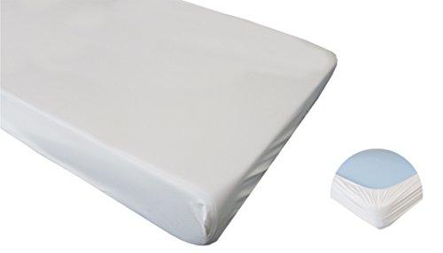 Pflegehome24® Matratzenschoner 100x200 wasserdicht PVC Spannbettlaken wasserundurchlässig