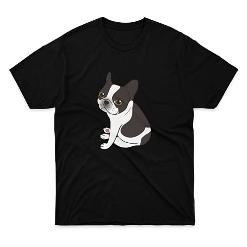 Mens Womens Tshirt Say Costume Hello Shirt to Apparel The Unisex Cute Tee Double Cotton Hooded Pied French Bulldog for Mothers Day, Fathers Day