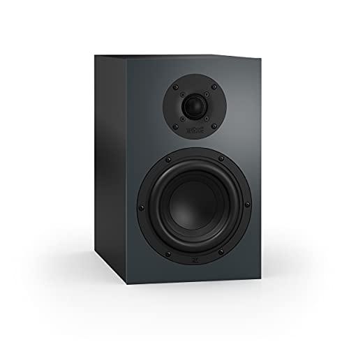 Nubert nuBoxx B-40 | Kompaktlautsprecher in Schwarz/Grau | 1 Stück Passivbox | Lautsprecher für die Stereo-Anlage | kompakter Regallautsprecher | Box mit 2 Wege Technik | Box für Heimkino und Musik