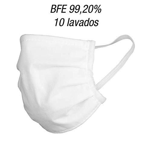 Mascarillas higiénicas 5 capas - Mascarillas lavables y reutilizables - Producto nacional (5 unidades)