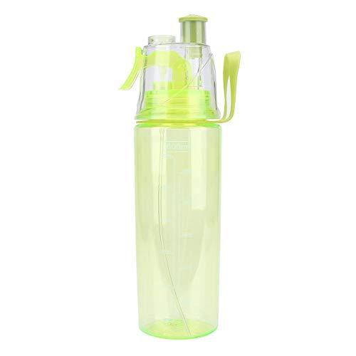 【𝐆𝐞𝐬𝐜𝐡𝐞𝐧𝐤】 Plastikwasserflasche,Sport Wasserflasche 600 ml tragbare Plastikwasserflasche, klare, l?ssige Anti Leck Flasche mit SPR¨¹hkopf für die Sportschule zum Radfahren(Gr¨¹n)