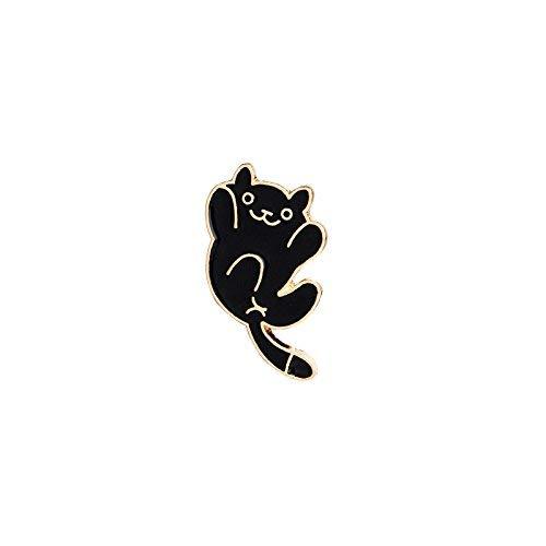 KEKE Nette Brosche Cartoon Katze Form Broschen Neuheit Pin Badge Zubehör für Kleidung Hemd Jacken Mäntel Krawatte Hüte Caps Taschen (Color : A2)
