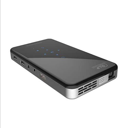 Heimkino tragbar Projektor X2 (1 + 8G) DLP Android 7.1Smart Miniprojektor X2 Mit Objektivschutz WiFi Miniprojektor (schwarz) EU