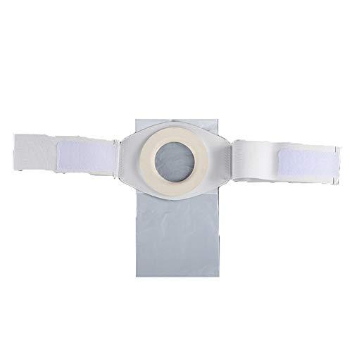YUXINCAI 2 Stück Stoma Hernie Gürtel Atmungsaktive Stoma Bandage Haut Stomaversorgung, Post Kolostomie Bauch Stoma Bandage Mit 100 Stück Beutel