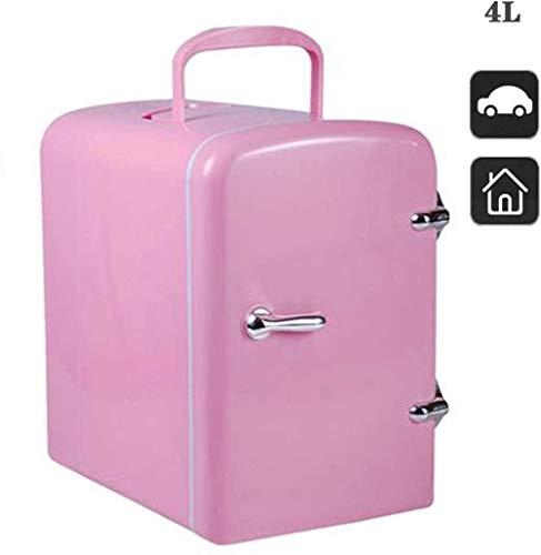 XUHRA 4L Mini refrigerador del refrigerador y cálido Nevera de semiconductores electrónicos refrigerador de Alimentos Cosméticos Personal para su Coche,Pink
