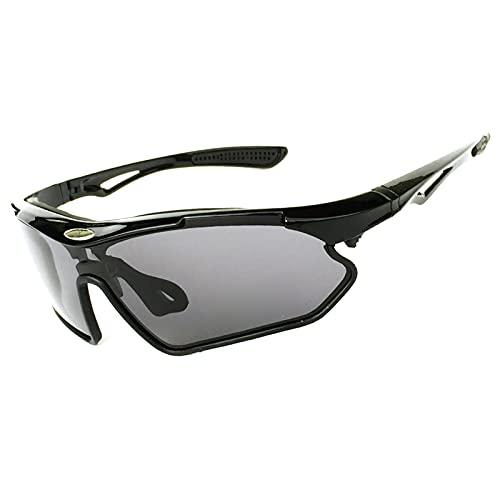 CHQY Gafas de sol polarizadas deportivas, para hombre y mujer, para ciclismo, correr, deportes, a prueba de rayos UV, parabrisas D