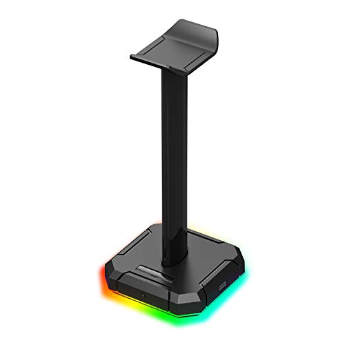 Redragon Scepter PRO HA300 with 10 RGB Lighting Modes and 4 USB Ports Headphone Stand