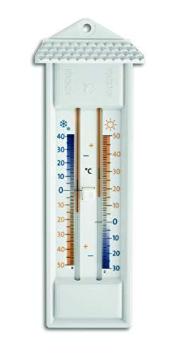 TFA Dostmann Analoges Maxima-Minima-Thermometer, geeignet für innen und außen, wetterfest