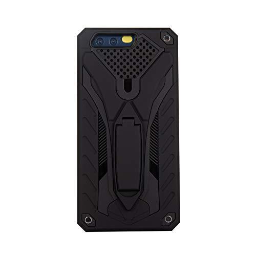 niter Compatibile con Huawei P8 Lite Custodia Ultra Sottile Slim Heavy Duty Cover Silicone Morbido TPU Bumper Rigida PC Cover Grip Stand Antiurto Custodia Protettiva Nero Taglia Unica
