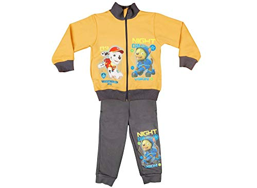 Kleines Kleid Jungen Sportanzug Trainingsanzug Warm, Sweat-Jacke mit Langer Hose, Gr 92 98 104 110 116 122 128, Jogging-Anzug, Freizeit-Anzug, Paw Petrol Farbe Modell 4, Größe 104
