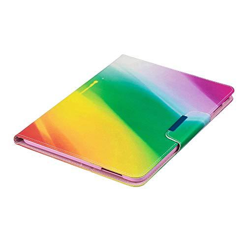 XTstore Samsung Galaxy Tab 4 10.1 Hülle Case, Leder Tasche Flip Cover Schutzhülle Schale Etui mit Standfunktion für Samsung Galaxy Tab 4 10.1 Zoll Tablet SM-T530/T535 - Regenbogen (Auto Schlaf/Wach)